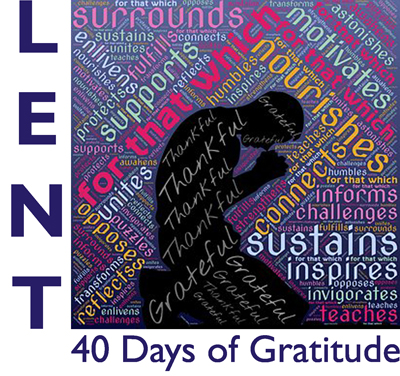 Booklet cover:  Lent:  40 Days of Gratitude